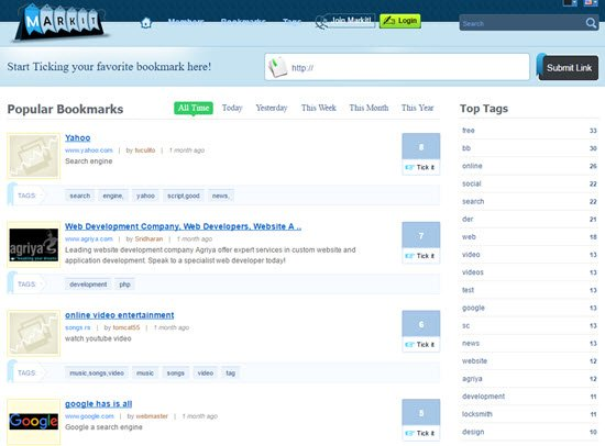 Markit Social Bookmarking Scripts
