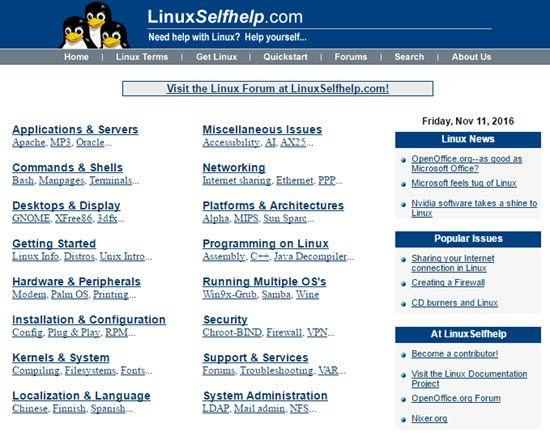 LinuxSelfhelp