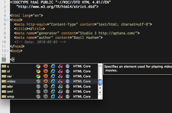 Aptana Studio Free HTML Editor