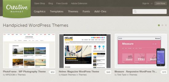 WordPress Theme Places