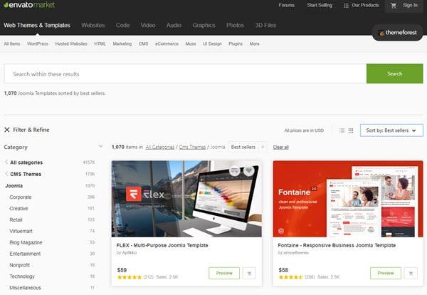 ThemeForest Buy Premium Joomla Template
