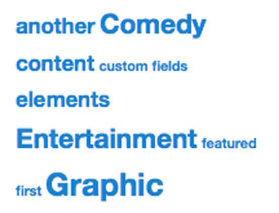 WordPress Tag Cloud Widget