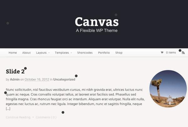 Canvas - WordPress Theme Frameworks
