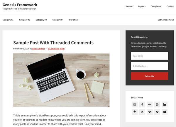 Genesis Framework - WordPress Theme Frameworks