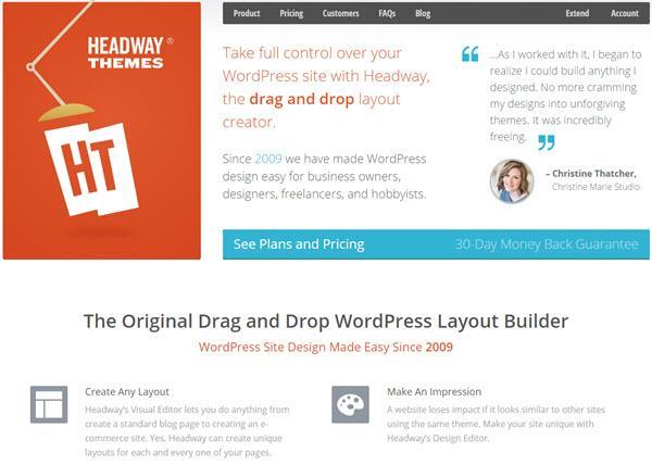 Headway - WordPress Theme Frameworks