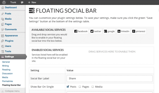 WordPress Social Bookmarking Plugin