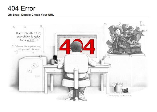 creative error page