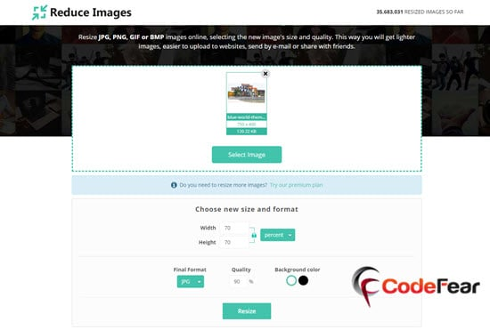 Reduce Images Online