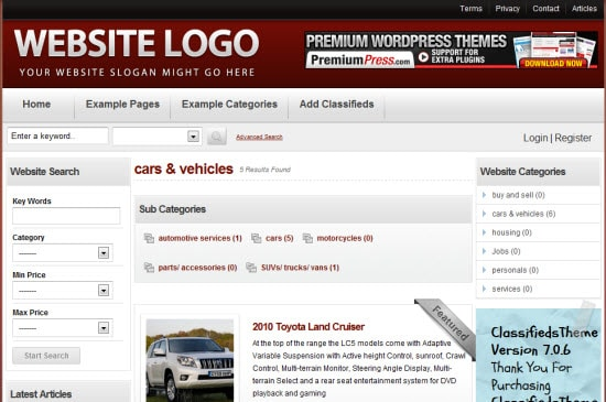 PremiumPress Classifieds