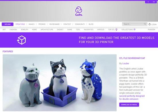Cults 3D Sell 3D Models