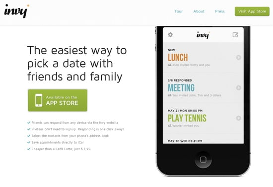 iPhone App Landing Pages