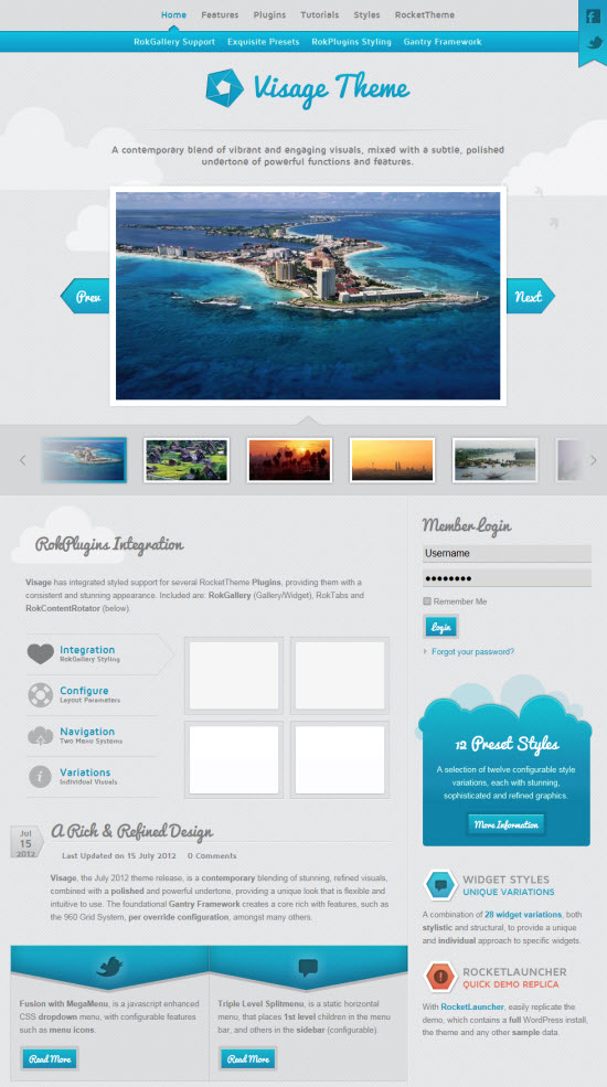 Visage WordPress Theme