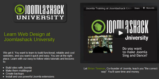 Learn Joomla Online At Joomlashack University
