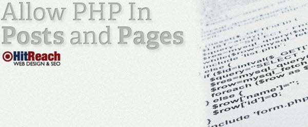PHP Code in a WordPress Post