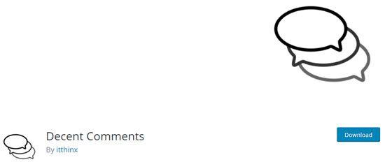 Decent Comments WordPress Comment Plugins