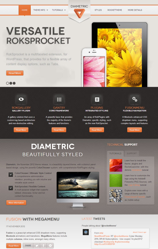 Diametric WordPress Theme