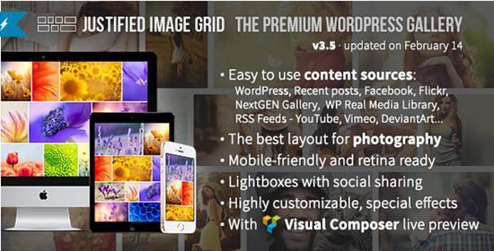 Justified Image Grid - WordPress Image Gallery Plugins