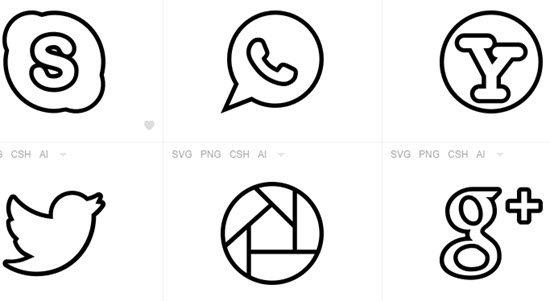 Black & White Icon Sets