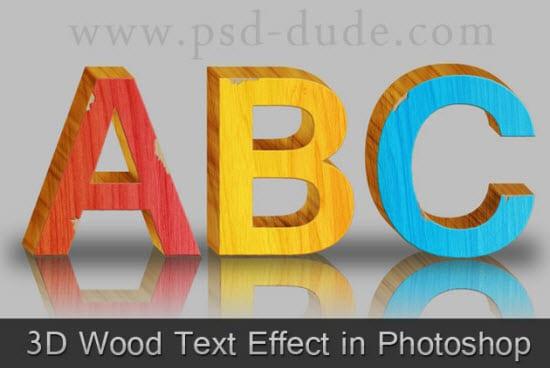 3D text effect tutorials