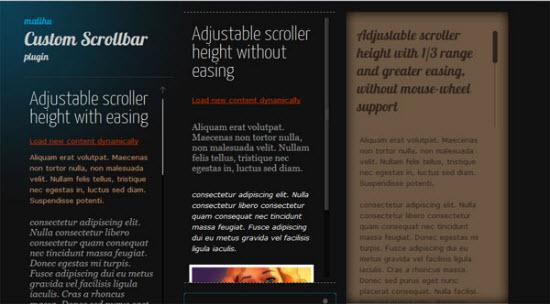 jQuery Scrollbar Plugins