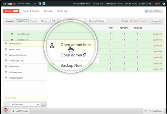 Managing Multiple WordPress Sites with InfiniteWP