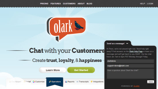 Integrate Live Chat on Website with Olark