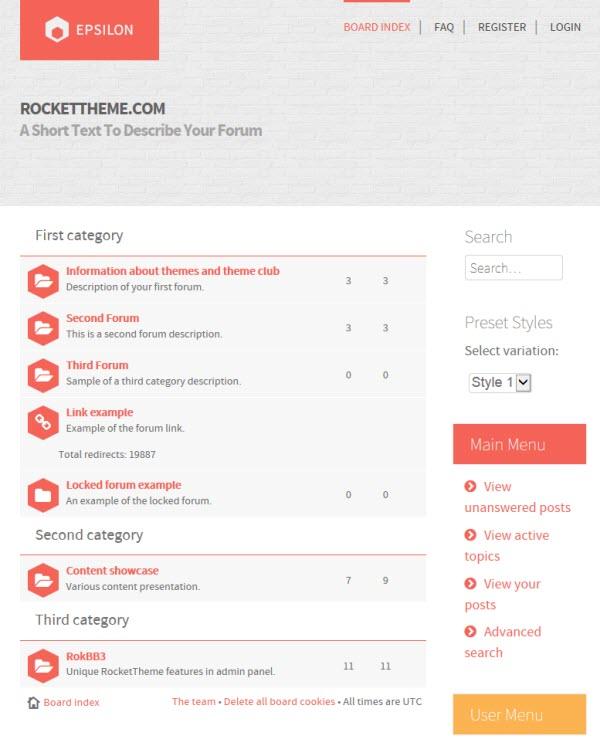 phpBB3 Style Epsilon by RocketTheme