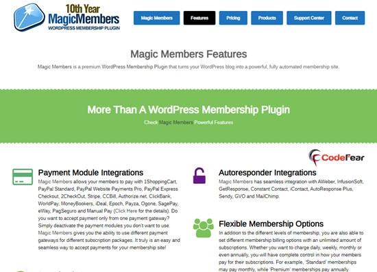 Magic Members Plugin