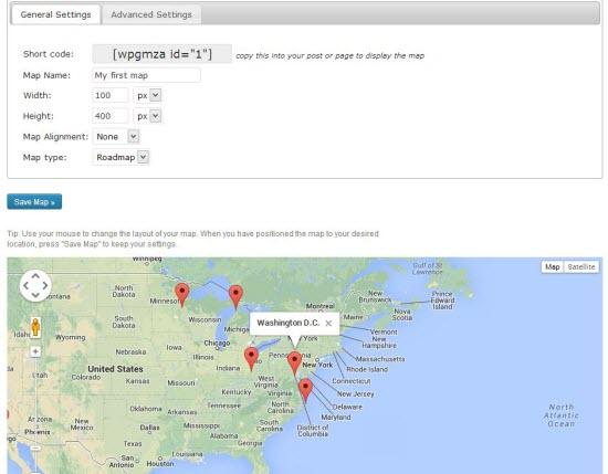 WordPress Google Map Plugins