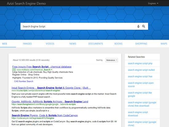 Azizi Search Engine Script