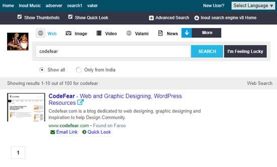 Inout Search Engine Script