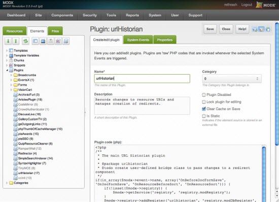 Modx Content Managment System,