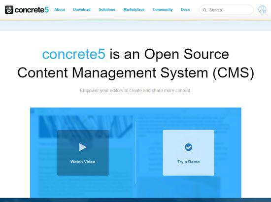 Concrete5 WordPress Alternative CMS