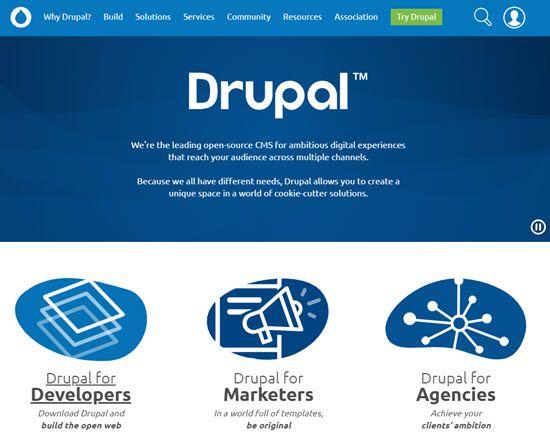 Drupal WordPress Alternative CMS