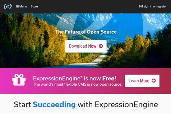 Expression Engine WordPress Alternative CMS