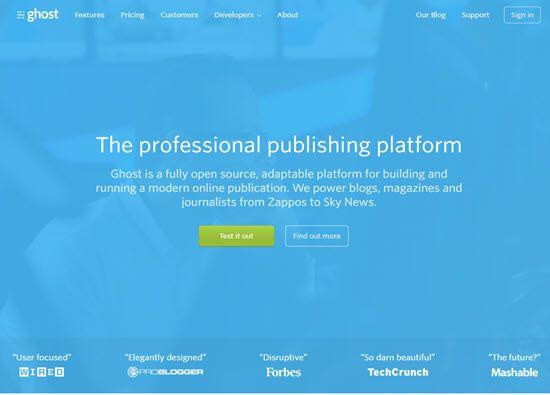 Ghost WordPress Alternative CMS