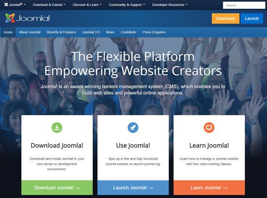 Joomla WordPress Alternative CMS