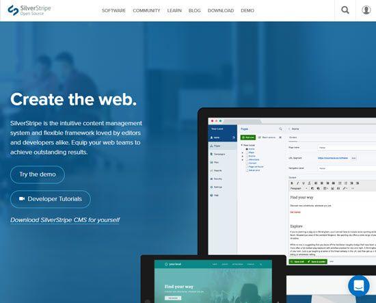 SilverStripe WordPress Alternative CMS
