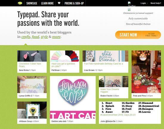 TypePad WordPress Alternative CMS