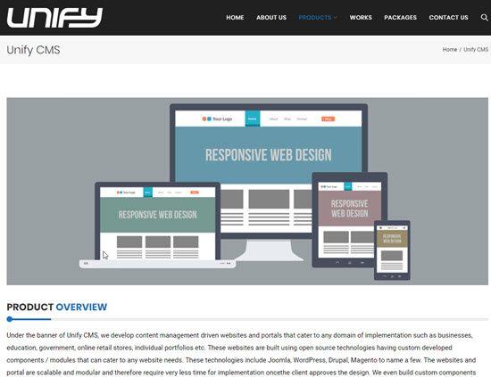 Unify CMS WordPress Alternative CMS