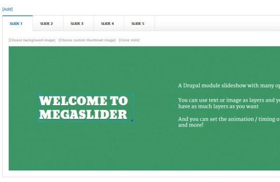 Mega Slider a Responsive Slider Module for Drupal