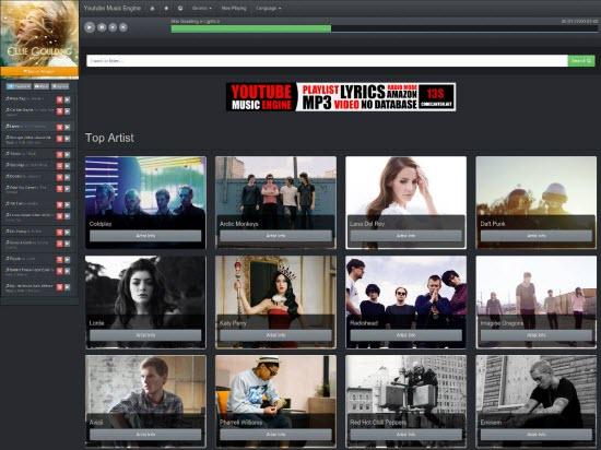 YouTube Music Engine Script