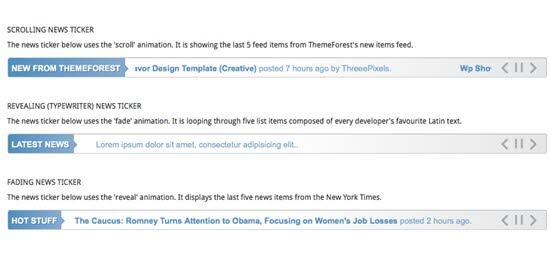 JavaScript News Tickers
