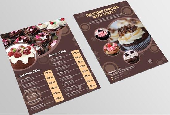 Cupcake Menu Flyer