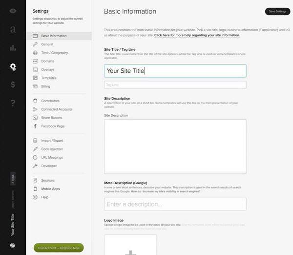 Squarespace Website Builder Editor