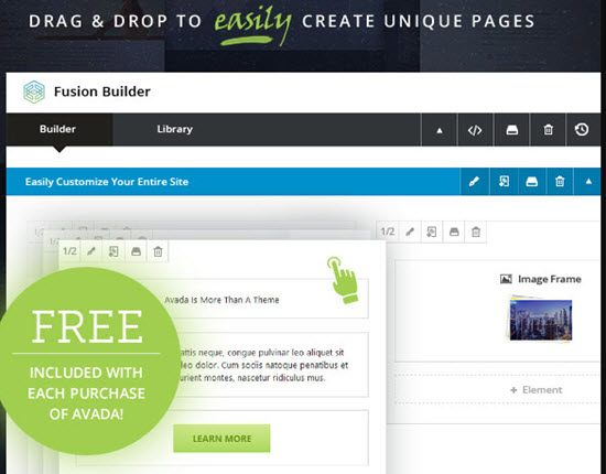 Avada Drag and Drop Page Builder