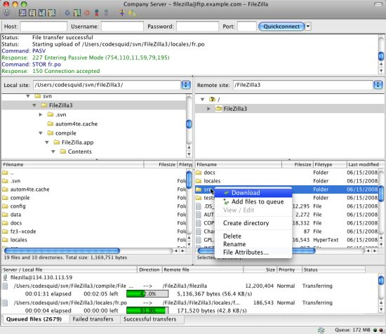 FileZilla Best FTP Clients