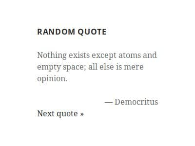 show Random Quotes on your WordPress site
