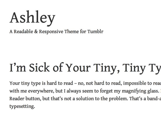 Ashley Free Tumblr Themes