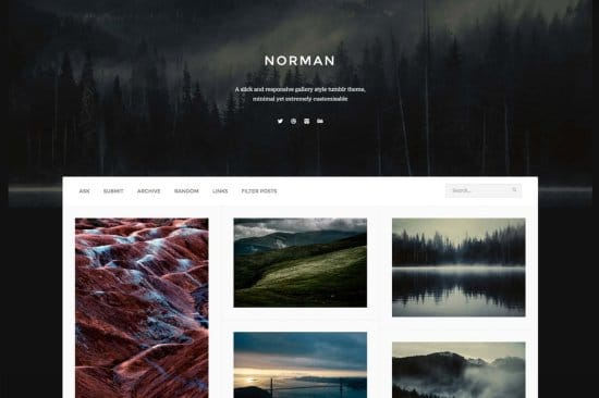 Norman Free Tumblr Theme